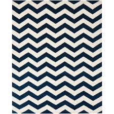 safavieh ham dark blue ivory 9 ft x 12 ft area rug