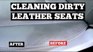 how to clean dirty leather car seats interior car cleaning tips you
