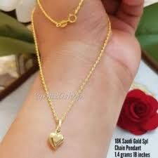 18k able necklace saudi gold