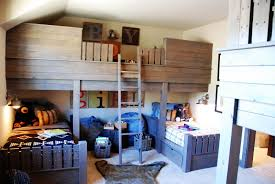 Bunk Beds In A Style Like This Could Work For The Short Ceiling