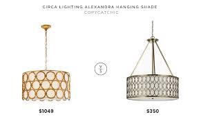 circa lighting alexandra hanging shade 1 049 vs wayfair satin brass 5 light pendant 350