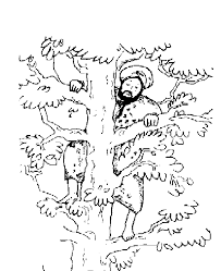 Click the jesus meets zacchaeus coloring pages to view printable version or color it online (compatible with ipad and android tablets). Jesus And Zacchaeus Coloring Page Coloring Home