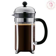 bodum chambord french press coffee maker glass 0 35 l 12 oz 3 cup chrome