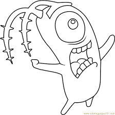 Plankton From Spongebob Coloring Pages