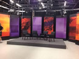 Tv Talk Show Stage Design Communications Complex Constructs New Talk Show Set Bryant