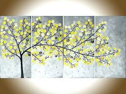 yellow and gray wall art yellow grey painting large wall art modern impasto canvas and gray yellow and gray wall art  on yellow wall art ebay with yellow and gray wall art gray and yellow wall art painting of