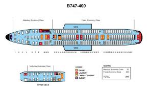 Boeing 747 Seating Chart Philippine Airlines Boeing 747 400 391 Seats Aircraft