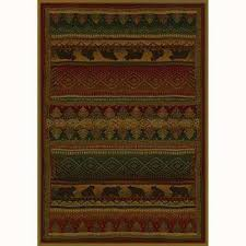 bearwalk red 5 ft x 8 ft contemporary lodge area rug