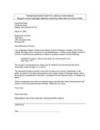 Permission Letter Sample Fillable Online Sample Permission Letter For A Thesis Or