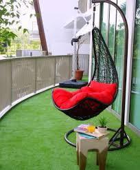 balcony garden. Artificial Grass Helps To Set The Outdoor Mood And Requires Almost No Maintenance. PHOTO: ABSOLUT OUTDOORS. AESTHETIC BALCONY GARDEN Balcony Garden