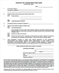 Free Subcontractor Lien Waiver Form Waiver Form Template Release Of Liability Waiver Form Injury Waiver