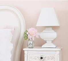 squat shabby chic white table lamp