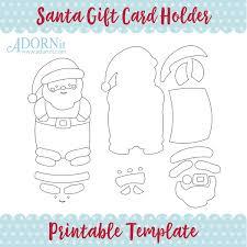 Santa Gift Card Holder Printable Template Instant Digital
