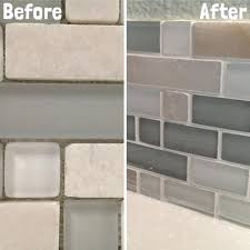 grout tile backsplash no grout glass subway tile backsplash