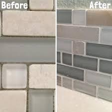 grout tile backsplash no grout glass subway tile backsplash