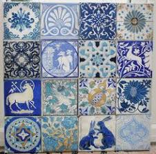 Blue And White Decorative Tiles 100MEXICAN TALAVERA POTTERY 100 tile Blue white Birds hand painted 90