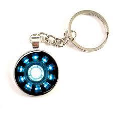 Movie Iron Man Arc Reactor Necklace Tony Stark 1pcs Lot Keyring Pendant Avengers Age Of Ultron Dr Who Silver Keychain Mens 2018