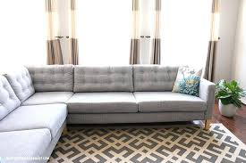 sofa hpricot picture upholstery cushions diy how to tuft on your cushions oh