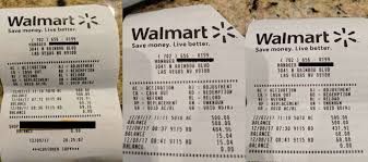walmart receipts showing gift card fraud at 9115 rd