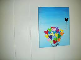 disney balloon canvas art by fishingforwishes on