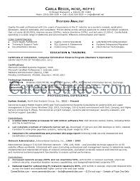 Awesome Collection of Business Systems Analyst Resume Sample Also Cover
