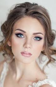 wedding makeup blush glossy lips luxe liner