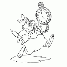 25 Vinden Konijn Alice In Wonderland Kleurplaat Mandala Kleurplaat