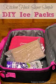looking for a quick and easy way to make your own diy ice pack for a