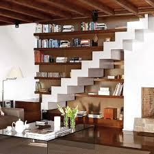 living room under stairs storage