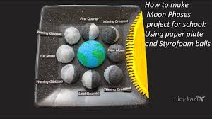 Phases Of The Moon Chart For Kids How To Make 3d Moon Phases Project For School Science Project For Kids Stem Project
