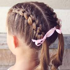 Knotted French Braid Pigtails