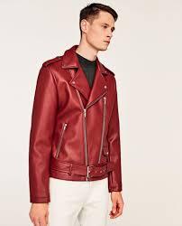 zara men s biker jacket