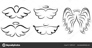 Andělská Křídla Kreslení Vektorové Ilustrace Okřídlený Andělské