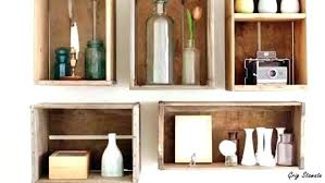 crate wall wooden crates on a bathroom wall holding towels and wooden crate wall shelves crate
