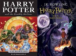 harry potter ly hallows new and old book cover