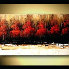 red tree painting abstract artwork red tree oil painting red tree painting