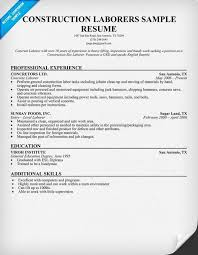 General Laborer Resume Awesome Construction Worker Resume Template