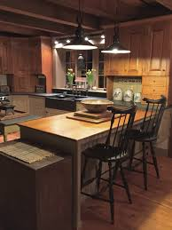 Primitive Kitchen Furniture Beautiful Kitchen Love The Black Island Primitive Kitchens
