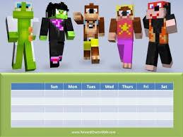 Minecraft Sticker Chart Minecraft Sticker Chart Walmart Target Behaviour Chart