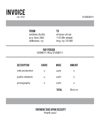 Web Development Invoice Invoice Design Inspiration Best Examples And Practices