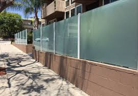 this residential frosted glass wall topper installation in lake elsinore ca provides privacy while enhancing this homeowner s property