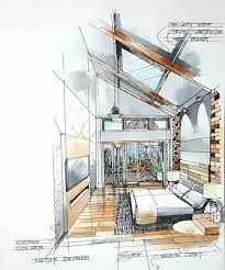 Marker Rendering Interior Design Bedroom Perspective Watercolor Interiordesign Croquis