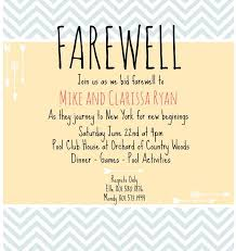Free Going Away Party Invitations Farewell Flyer Template 10 Farewell Invitation Templates