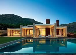 Modern Mediterranean Stone House - Building Plans Online | #48628