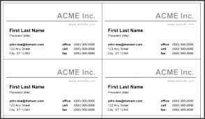 Microsoft Business Cards Templates Microsoft Business Card Template Free