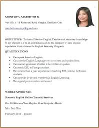 Sample Of Resume For Abroad Sample Resume Job Application Sample Resume Formats Job Application