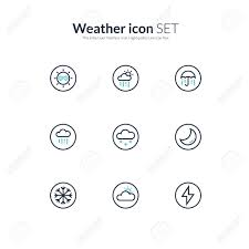 Two Tone Icons Two Tone Icon Set Weather Icons Royalty Free Cliparts Vectors