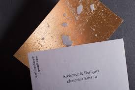 Golden Concrete Architect Business Card Mindsparkle Mag