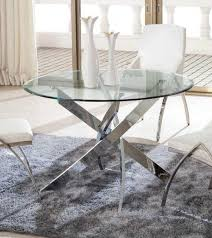 kalmar tempered glass round dining table