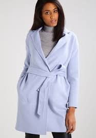 affordable tommy hilfiger carmen classic coat blue 51 polyester 49 wool womens clothing to121p00l k12